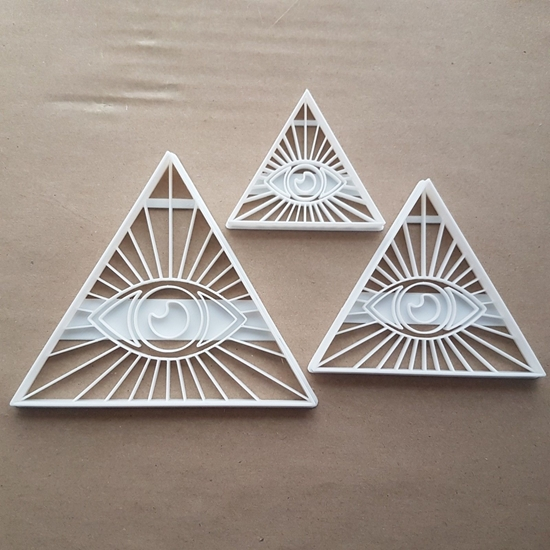 Eye Of Providence Seeing Shape Cookie Cutter Dough Biscuit Pastry Fondant Sharp Stencil God Symbol Sign