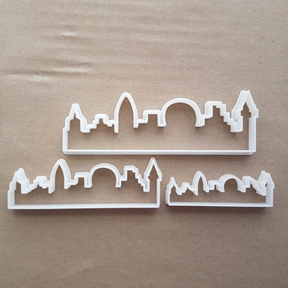 City London Skyline Shape Cookie Cutter Dough Biscuit Pastry Fondant Sharp Stencil England Sky Horizon Line