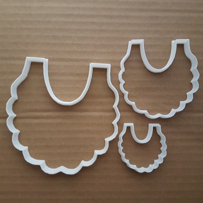 Baby Bib Apron Garment Shape Cookie Cutter Dough Biscuit Pastry Fondant Sharp Stencil Burp Cloth Shower Christening Clothes