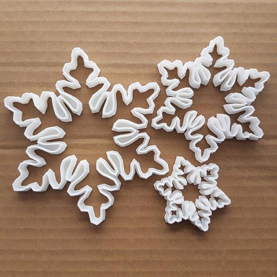 Snowflake Snow Shape Cookie Cutter Dough Biscuit Pastry Fondant Sharp Stencil Flake Xmas Christmas Winter Weather Ice
