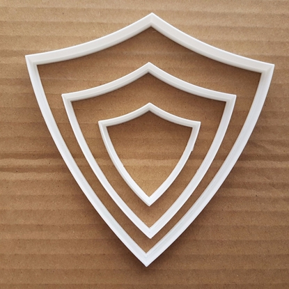 Shield Arms Battle Plaque Shape Cookie Cutter Dough Biscuit Pastry Fondant Sharp Stencil Armour Medieval