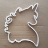 Unicorn Mane Horse Mythical Shape Cookie Cutter Dough Biscuit Pastry Fondant Sharp Stencil Creature Animal Head Cute