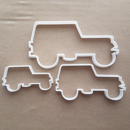 Jeep Pick Up Off Road 4x4 Shape Cookie Cutter Dough Biscuit Pastry Fondant Sharp Stencil Truck Wagon Car Van