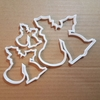 Holly Bells Christmas Shape Cookie Cutter Dough Biscuit Pastry Fondant Sharp Xmas Stencil Plant Berries Wreath