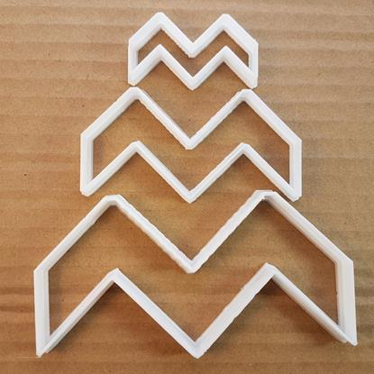 Chevron Shield Race Shape Cookie Cutter Dough Biscuit Pastry Fondant Sharp Stencil ZigZag Zig Zag