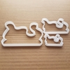 Santa Sleigh Sled Sledge Shape Cookie Cutter Dough Biscuit Pastry Fondant Sharp Stencil Claus Father Christmas Xmas