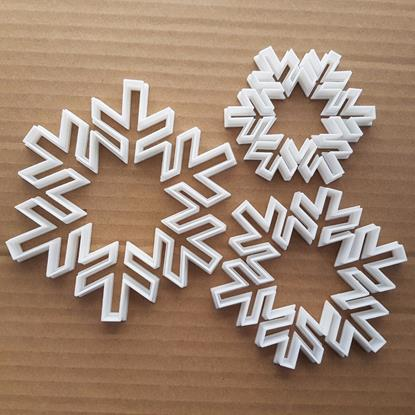 Snowflake Weather Sleet Shape Cookie Cutter Dough Biscuit Pastry Fondant Sharp Stencil Xmas Christmas Snow Flake Ice Winter