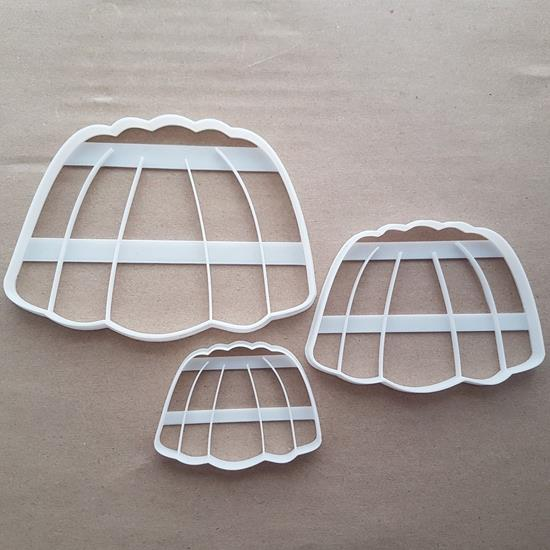 Jelly Gelatin Dessert Shape Cookie Cutter Dough Biscuit Pastry Fondant Sharp Stencil Food Pudding Jell O