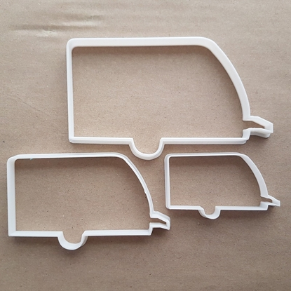 Caravan Camper Tourer Shape Cookie Cutter Dough Biscuit Pastry Fondant Sharp Holiday Vacation Home Trailer Stencil Vehicle Motor