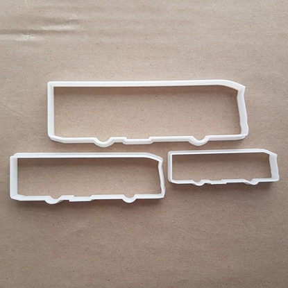 Coach Bus Tour Holiday Shape Cookie Cutter Dough Biscuit Pastry Fondant Sharp Stencil Vacation Vehicle