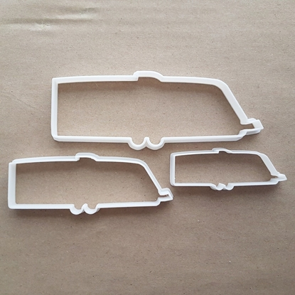 Caravan Trailer Camper Shape Cookie Cutter Dough Biscuit Pastry Fondant Sharp Stencil Motor Home Vehicle