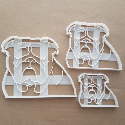 Bulldog British Pet Dog Shape Cookie Cutter Dough Biscuit Pastry Fondant Sharp Stencil Animal Bull Puppy Pooch