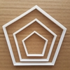 Pentagon Symbol Badge Shape Cookie Cutter Dough Biscuit Pastry Fondant Sharp Stencil Outline