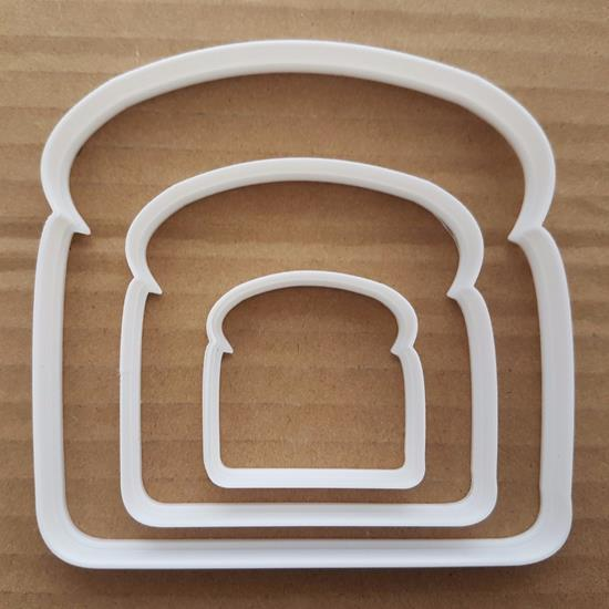 Toast Bread Sandwich Food Shape Cookie Cutter Dough Biscuit Pastry Fondant Sharp Stencil Slice Piece Breakfast
