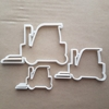 Fork Lift Truck Warehouse Shape Cookie Cutter Dough Biscuit Pastry Fondant Sharp Stencil Car Vehicle Factory
