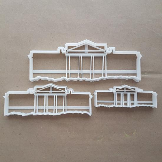 White House DC President Shape Cookie Cutter Dough Biscuit Pastry Fondant Sharp Stencil Washington American USA United States of America