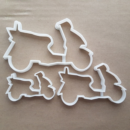 Moped Scooter Motor Bike Shape Cookie Cutter Dough Biscuit Pastry Fondant Sharp Stencil Motorcycle Cycle Vehicle