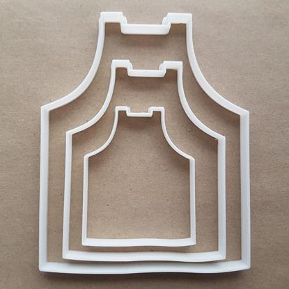Apron Pinny Chef Kitchen Shape Cookie Cutter Dough Biscuit Pastry Fondant Sharp Stencil Mom Mum Restaurant Uniform Food