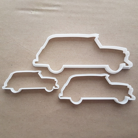 Taxi Cab London Car Shape Cookie Cutter Dough Biscuit Pastry Fondant Sharp Stencil Black Vehicle Cabbie Taxicab