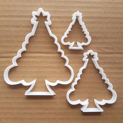 Christmas Tree Star Xmas Shape Cookie Cutter Dough Biscuit Pastry Fondant Sharp Stencil Plant Fir Festive