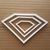 Picture of Diamond Shape Cookie Cutter Biscuit Pastry Dough Gem Jewel Stencil Sharp Fondant