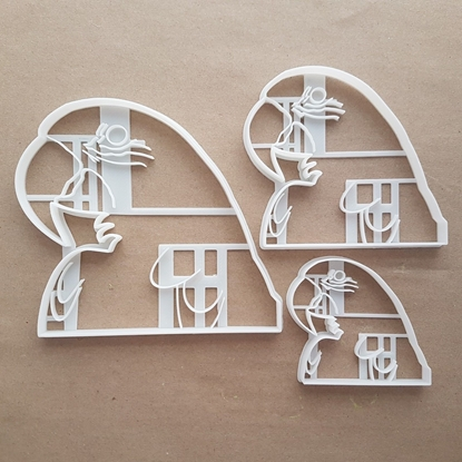 Parrot Bird Animal Pet Shape Cookie Cutter Dough Biscuit Pastry Fondant Sharp Stencil Tropical Paradise