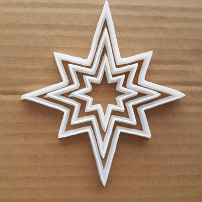Star North Nativity Xmas Shape Cookie Cutter Dough Biscuit Pastry Fondant Sharp Stencil Christmas Sky