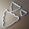 Poo Emoji Text Smiley Shape Cookie Cutter Funny Biscuit Dough Stencil Pastry Fondant Sharp