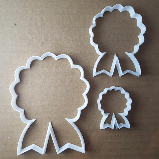 Rosette Decoration Rose Shape Cookie Cutter Dough Biscuit Pastry Fondant Sharp Stencil Award Certificate Horse Riding