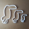 Toucan Bird Coast Shape Cookie Cutter Dough Biscuit Pastry Fondant Animal Sharp Stencil