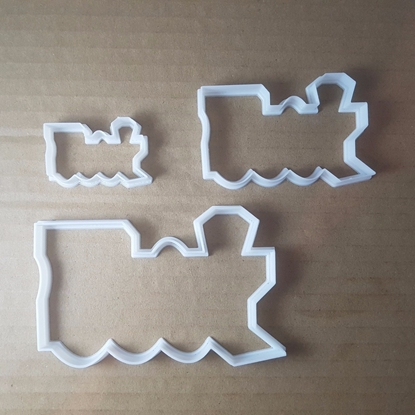 Train Steam Rail Track Shape Cookie Cutter Vehicle Biscuit Pastry Fondant Sharp Dough Stencil Railroad Railway