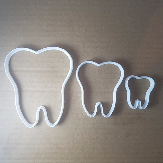 Tooth Teeth Mouth Dentist Shape Cookie Cutter Dough Biscuit Pastry Fondant Sharp Stencil Body Part