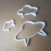 UFO Space Alien Craft Shape Cookie Cutter Spaceship Biscuit Pastry Fondant Sharp Stencil Dough Ship Spaceship Area 51 Aliens