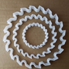 Saw Circular Tool Workman Shape Cookie Cutter Dough Biscuit Pastry Fondant Sharp Stencil Round