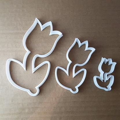 Tulip Flower Plant Garden Shape Cookie Cutter Dough Biscuit Pastry Fondant Sharp Stencil Summer Floral