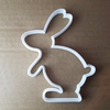 Rabbit Hare Bunny Farm Shape Cookie Cutter Easter Biscuit Pastry Fondant Sharp Stencil Animal