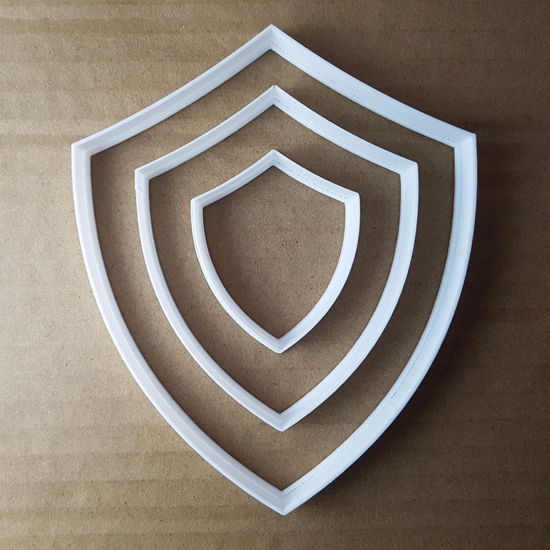 Shield Arms Plaque Armour Shape Cookie Cutter Dough Biscuit Pastry Fondant Sharp Stencil Coat Medieval Knight