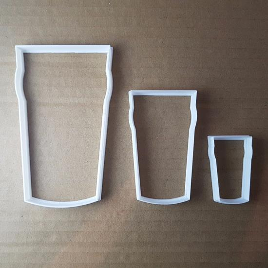 Pint Beer Glass Drink Dad Shape Cookie Cutter Dough Biscuit Pastry Fondant Sharp Stencil Alcohol Party Ale Bitter Cider Food Cup