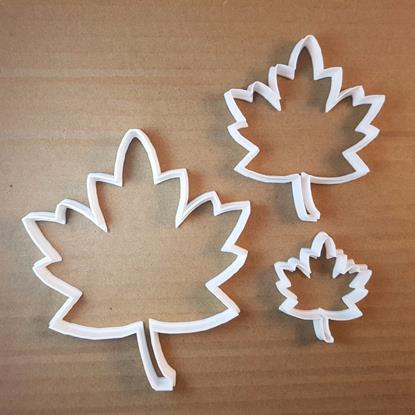 Leaf Plant Maple Tree Canada Cookie Cutter Dough Biscuit Pastry Fondant Sharp Stencil Canadian Flag Autumn
