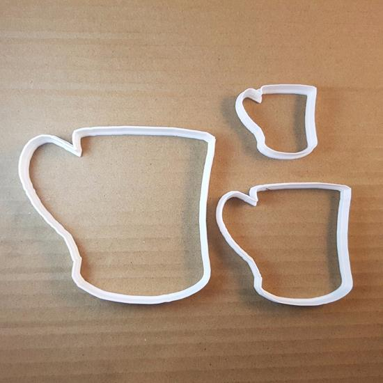 Mug Cup Drink Coffee Tea Shape Cookie Cutter Dough Biscuit Pastry Fondant Sharp Stencil Food