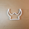 Viking Helmet Horn Hat Shape Cookie Cutter Dough Biscuit Pastry Fondant Sharp Stencil Medieval Norway Norwegian