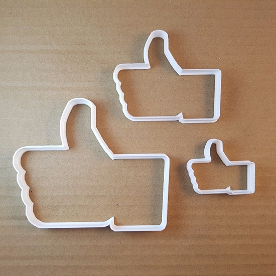 Like Emoji Thumbs Up Hand Shape Cookie Cutter Dough Biscuit Pastry Fondant Sharp Stencil Thumb Emoticon Icon
