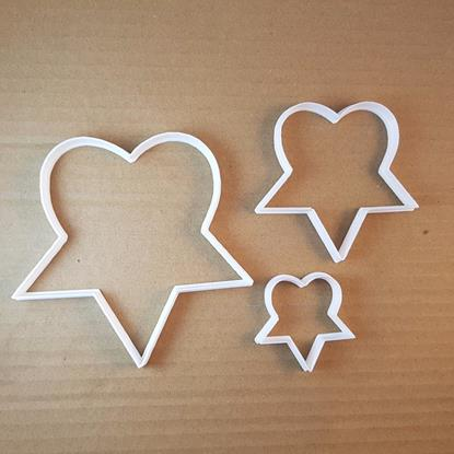 Heartagram Star Heart Shape Cookie Cutter Dough Biscuit Pastry Fondant Sharp Stencil Heartogram Valentine's Day Valentine Love