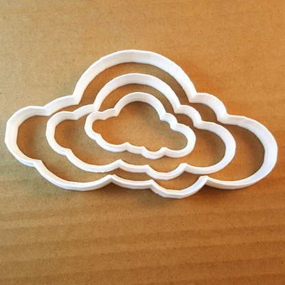 Cloud Sky Atmosphere Shape Cookie Cutter Dough Biscuit Pastry Fondant Sharp Stencil Autumn Storm Stormcloud Raincloud Weather Winter