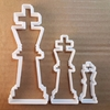 Chess King Male Piece Shape Cookie Cutter Dough Biscuit Pastry Fondant Sharp Stencil