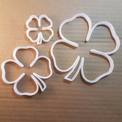 Four Leaf Clover Shamrock St Patricks Day Shape Cookie Cutter Dough Biscuit Pastry Fondant Sharp Stencil Ireland Irish Lucky Plant