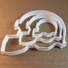 Helmet Guard Hat Rugby Shape Cookie Cutter Dough Biscuit Pastry Fondant Sharp Sport Goalkeeper Soccer Rugby Game Stencil Head