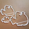Santa Father Christmas Shape Cookie Cutter Dough Biscuit Pastry Fondant Sharp Stencil Sack Presents Gifts Xmas