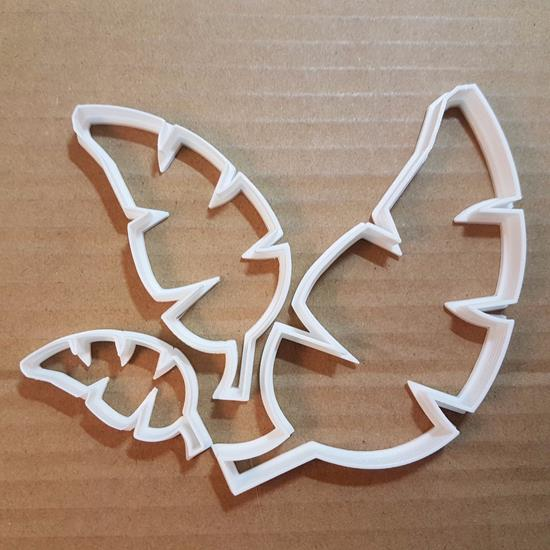 Leaf Alder Birch Ash Tree Shape Cookie Cutter Dough Biscuit Pastry Fondant Sharp Stencil Plant Autumn Garden Leaves