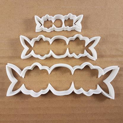 Flower Leaf Tiara Belt Shape Cookie Cutter Dough Biscuit Pastry Fondant Sharp Garland Wreath Hawaii Summer Stencil Floral Plant